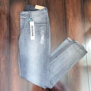 NWT! Faded Gray Maurices Denim Flex Jegging
